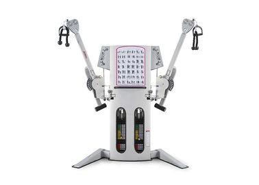 Multi Station Komersial Gym Peralatan Fitness Free Motion Dual Cable Cross Machine